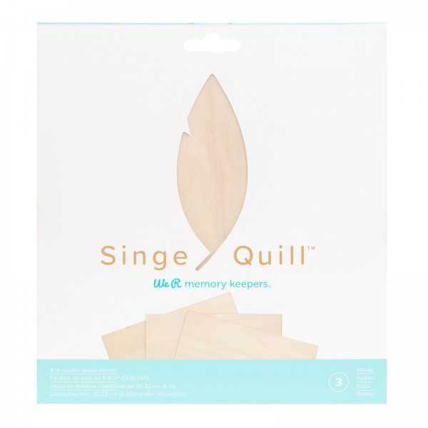 We R Memory Keepers Singe Quill Wood Sheets