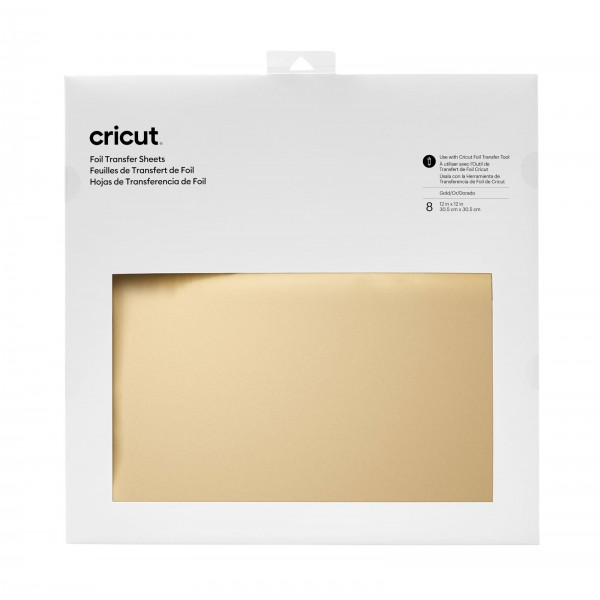 Cricut Foil Transfer Sheets Gold 8 ark