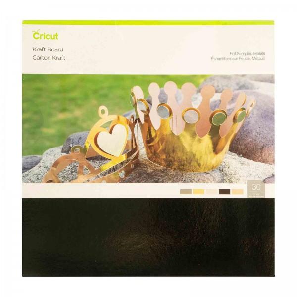 Cricut Kraft Board Foil Metals Sampler 10 ark