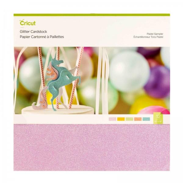 Cricut Glitter Cardstock Pastel Sampler 10 ark