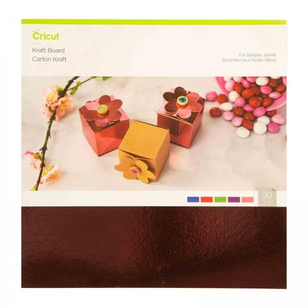 Cricut Kraft Board Foil Jewels Sampler 10 ark