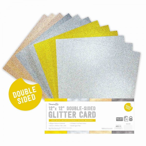 Double Sided Glitter Bumper Pack 30cm x 30cm Metallics