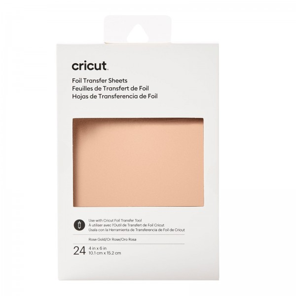 Cricut Transfer Foil Sheets Rose Gold 24ark