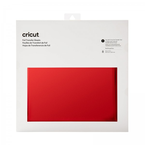 Cricut Foil Transfer Sheets Red 8 ark