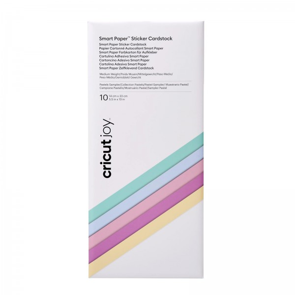 Cricut Smart Sticker Cardstock Pastels Sampler